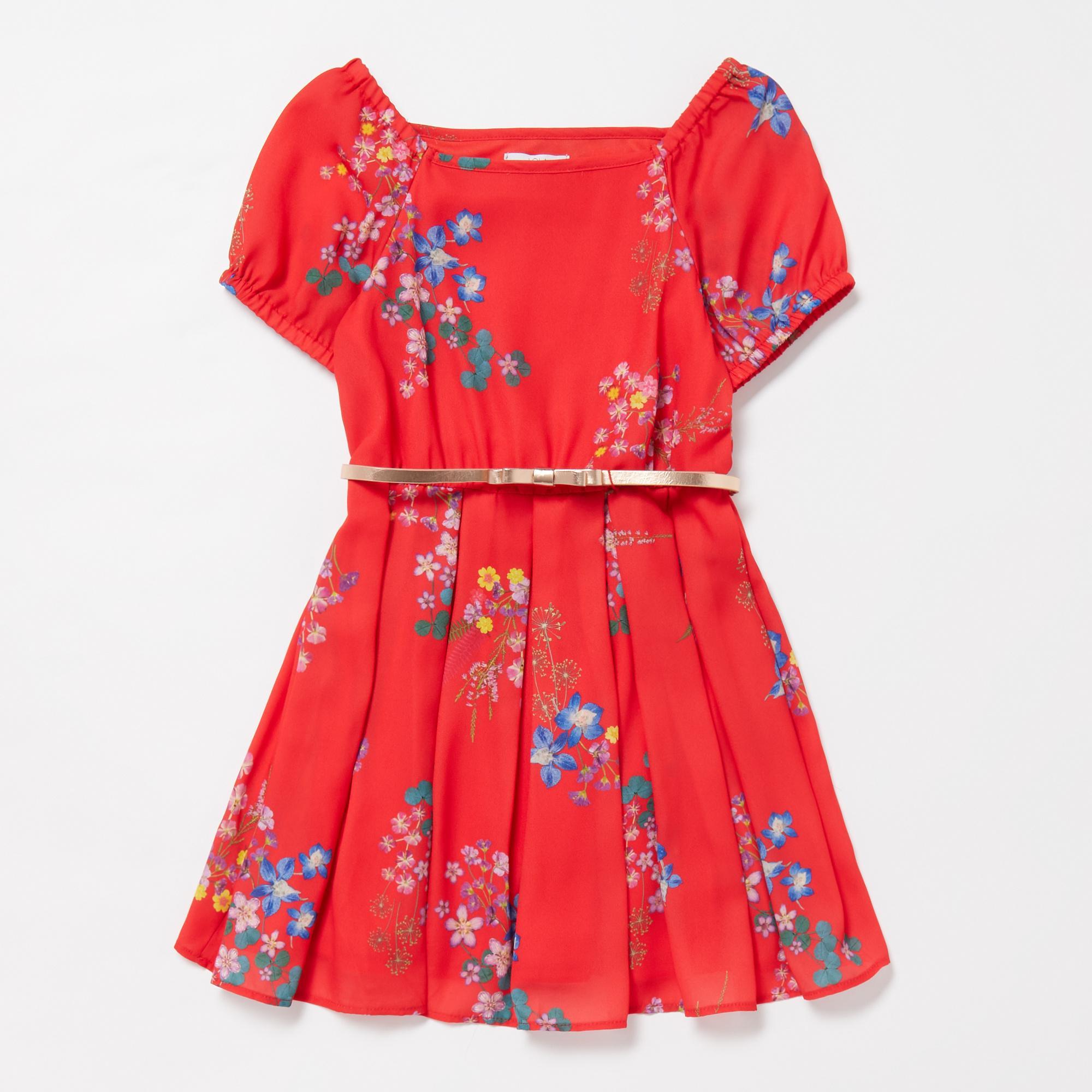 Lola & Maverick – Girls' Pink Floral Print Dress