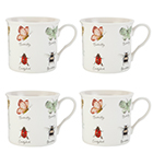 Argos Home Bugs Palace Pack of 4 Mugs839/4488