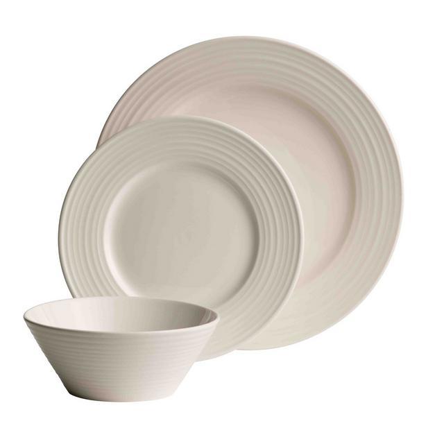 Belleek Living – Ripple 12 piece porcelain dinner set