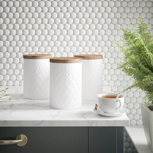 Coffee, Tea & Sugar Jar Set