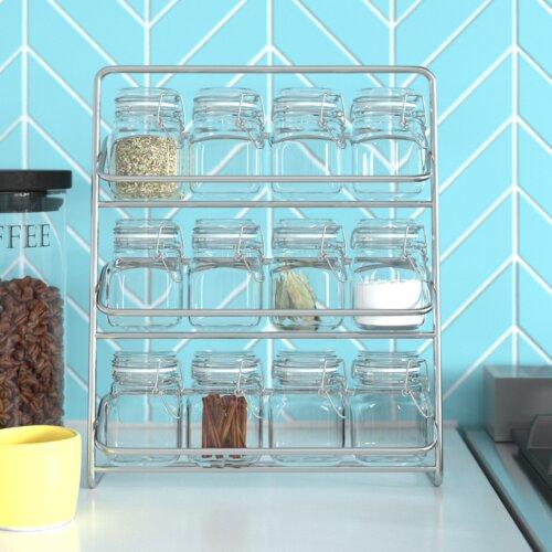 Pisa 12-Jar Free-Standing Spice Rack