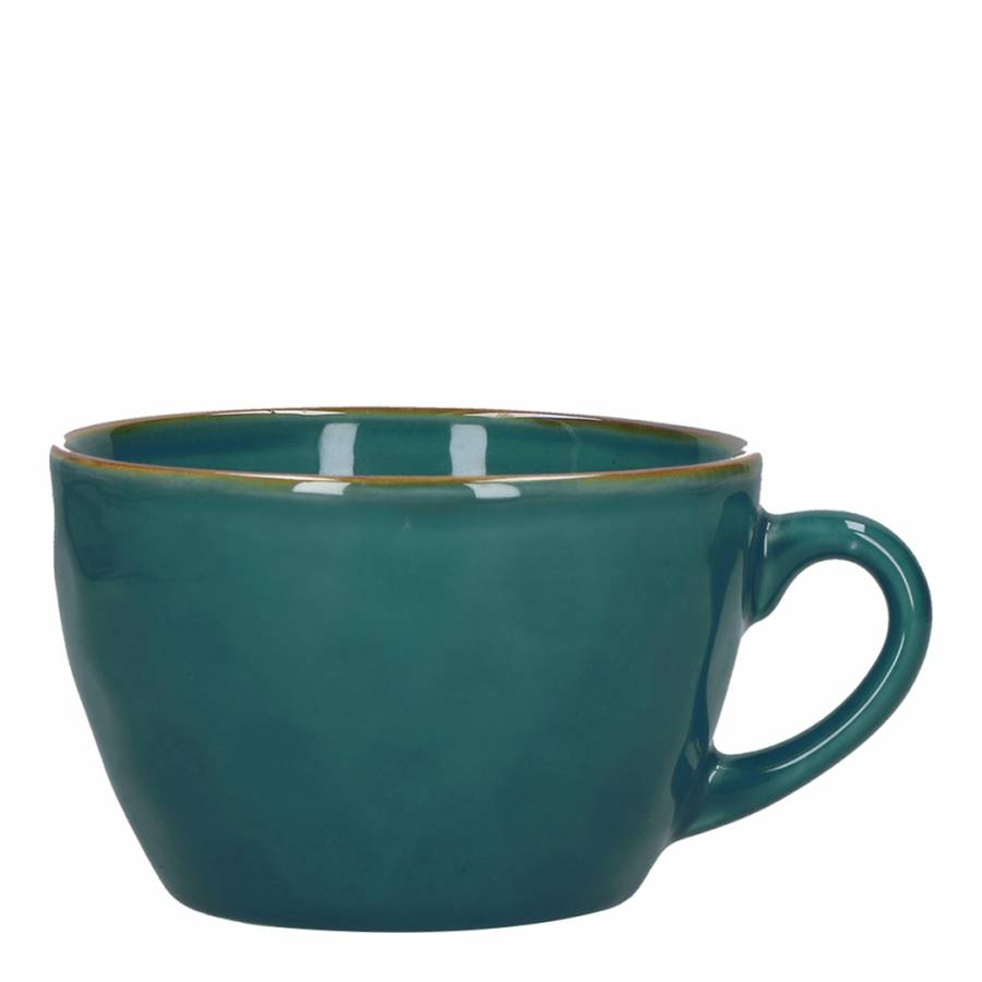 Concerto Set of 4 Teal Blue Breakfast Mugs, 420ml